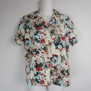 Vintage Pappagallo Floral Button Front Shirt
